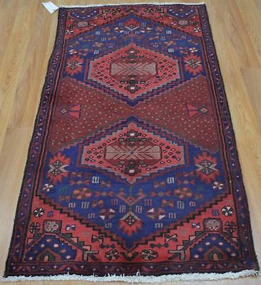 2'6x4'10 Fabulous Genuine Semi Antique Persian Tribal Hand Knotted Wool Area Rug