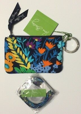 NWT VERA BRADLEY ZIP ID CASE AND LANYARD SET  midnight blue GIFT