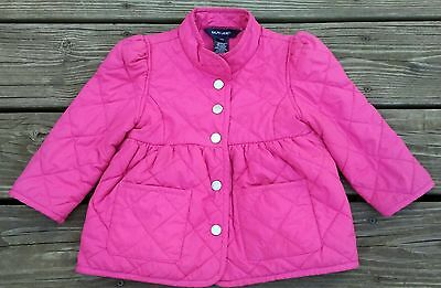 Toddler Girls Ralph Lauren Quilted Coat Size 24M 2T 24 Mos Pink