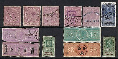 India Queen Victoria To King George Vi Revenue Stamps