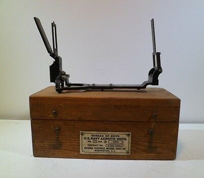 WW2 U.S. Navy Bureau of Ships Azimuth Instrument MK 2 Series N 1942