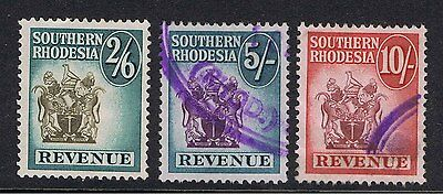 Southern Rhodesia 1954 Revenue Stamps