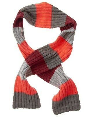 Gymboree Buffalo Lodge Burgundy, Orange & Gray Striped Sweater Scarf 1-Size Nwt