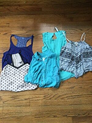 Summer lot Tops Size xl 5 piece bundle tank womens