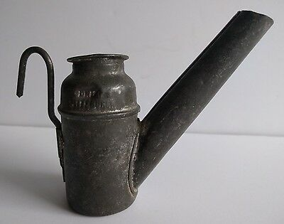 Antique Dunlap Pittsburg Coal Miner's Teapot Oil Wick Helmet Lamp Vintage estate