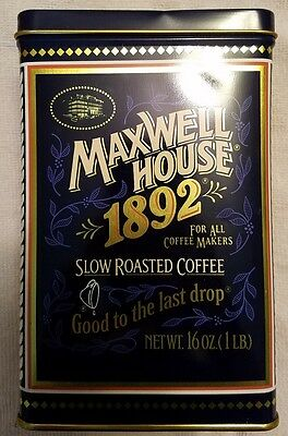"""Maxwell House 1892 Tin """"Good To The Last Drop"""" / 100Th Anniversary"""