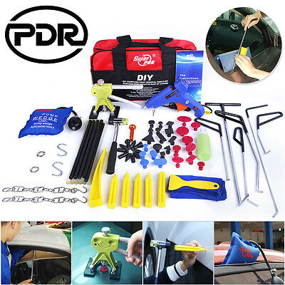 PDR 77x Paintless Dent Repair Removal Car Dent Puller Spring Steel Rods Tools