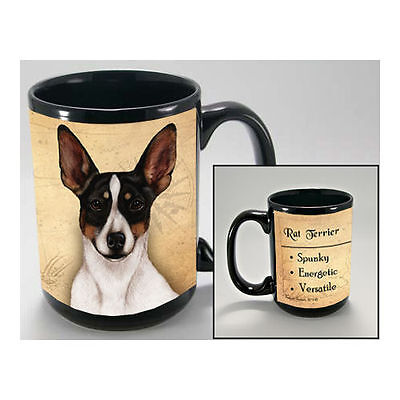 Rat Terrier Faithful Friends Dog Breed 15oz Coffee Mug Cup