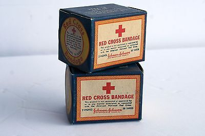 VTG Red Cross Bandage, Lot of (2), Unopened VTG Advertising Johnson & Johnson