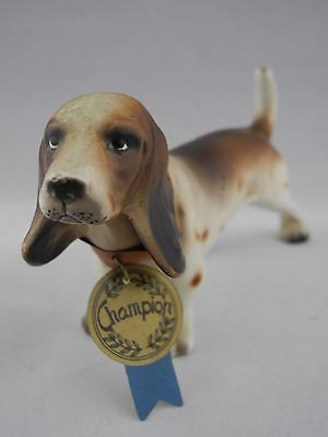 Vintage Dog Champion w/ tags National Pottery Cleveland Made in Japan