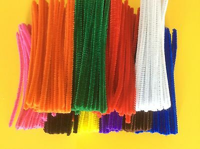1000 x Pipe Cleaners Craft Chenille Stems (6mm x 15cm)   BULK BUY FREE POST