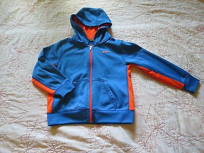 Nike Therma Fit Boy Girl 4T Blue and Orange Full Zip Jacket with Hood
