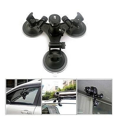 Triple Suction Cup Mount Angle Low Sucker Holder for Gopro Hero 2 3 3+ 4 Camera
