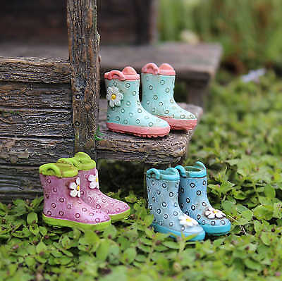 Rainy Day Boot Sets Fairy cottage Home Garden Craft Décor