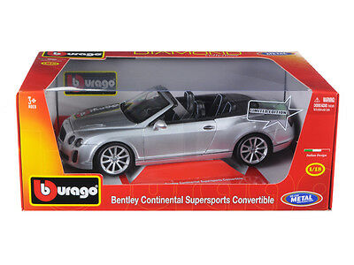 Bentley Continental Supersports Convertible Silver 1/18 Diecast Car Model by Bb
