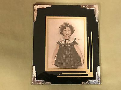 Vintage Reverse Painted Art Deco Frame Rare 4x5 Shirley Temple Great Color GC NR