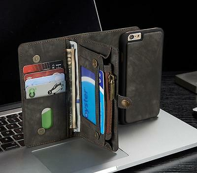 Leather Removable Wallet Magnetic Flip Card Coins Case Cover for iPhone 6/6S