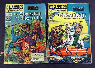 Classics Illustrated 1st editions lot of 2 - #58, 66 - Cloister and the Hearth