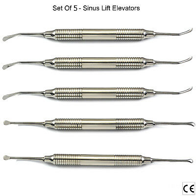MEDENTRA® Implant Sinus Lift Elevators Curettes Sinus Floor Oral Surgery 5PCS CE
