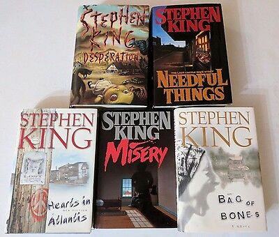 Stephen King 5 Book Lot Of Hardcover Horror Suspense Novels Desperation / Misery