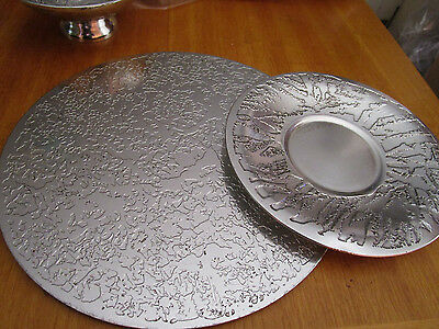 Australian 1978 Stephen Daly Metalwork PLATE  & PLACE MAT  Don Sheil Style