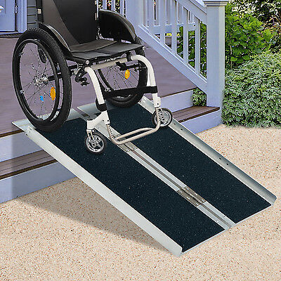 "HomCom 4"" Foldable Portable Wheelchair Ramp Scooter Mobility Easy Access Carrier"