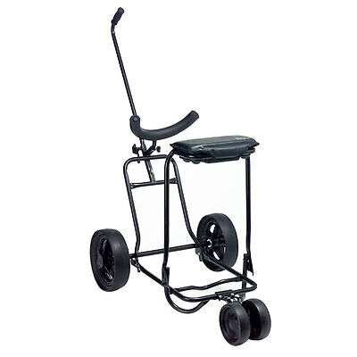 Pilgrim compact fold up golf push/pull buggy with 3rd wheel & tilt storage seat