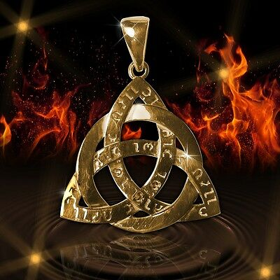 Amulet Celtic Triquetra Trinity Force Power Ancient Sterling silver and gold CA
