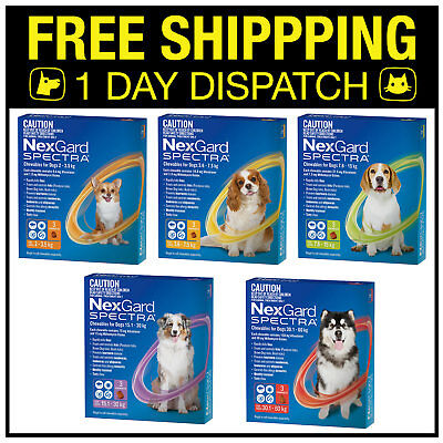 NexGard Spectra For Dogs 3 Chews All Sizes