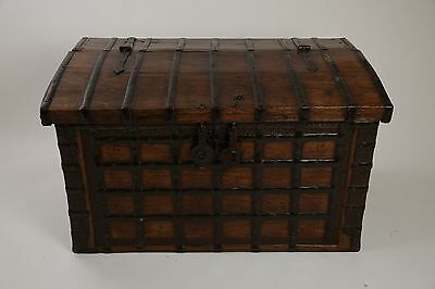 18th / 19th Century iron bound dome top trunk. An amazing item. UK DELIVERY INCL
