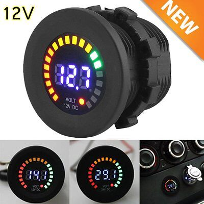 12V Mini Digital Voltage Meter Display Voltmeter LED Panel for Car Motorcycle OY