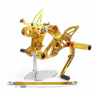 Racing Adjustable Rearsets Foot Pegs Rear Set For 14 Yamaha MT-09 FZ-09 Gold AU