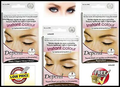 EYEBROW EYELASHES COLOUR TINT KIT Black, Brown, Dark brown, LASHES DYE SET