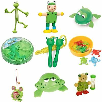Frog Slime Stretchy Magnifying Lens Clockwork Jumping Flexi Toothbrush Timer
