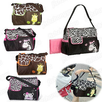 Cute Animal Baby Diaper Nappy Changing Mummy Bag Shoulder Tote Multi Waterproof