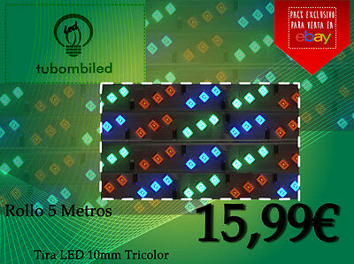 Tira LED 10mm, Multicolor (Rollo de 5 metros)