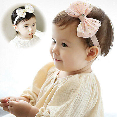Girl Kids Baby Toddler Infant Turban Cute Stars Bowknot Hairband Head Band Gifts