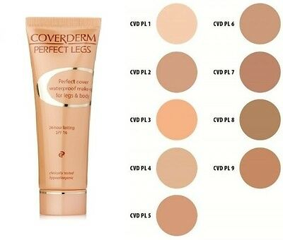 Coverderm Perfect Legs Waterproof Make Up For Legs & Body Spf 16 Choose Shade