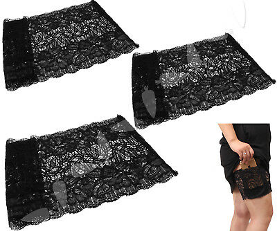 Non Slip Lace Elastic Anti-Chafing Thigh Band Prevent Thigh Chafing Sock S/M/L