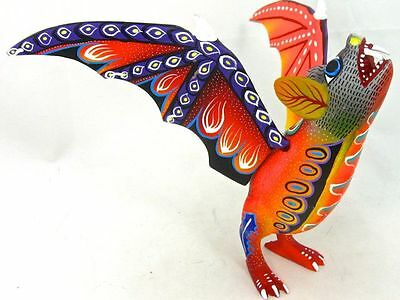 OAXACAN wood carving FLYING BAT - ROGELIO BLAS - OAXACA
