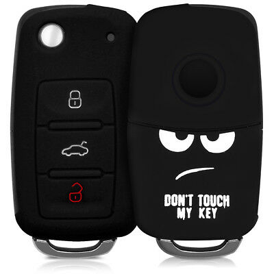 Silicone Cover For Vw Skoda Seat 3 Button Car Key Protective Case Don't Touch