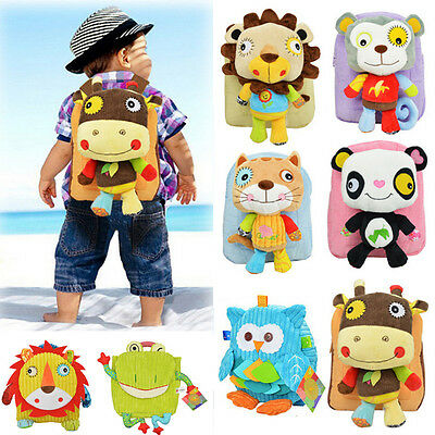 Lovely Baby Toddler Kids Child Boy Girl Cartoon Backpack Schoolbag Shoulder Bag