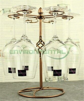 Vintage Wine Glass Cup Holder Shelf Stand Carrier Table Homeware Decor