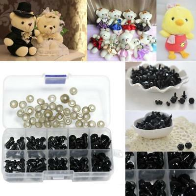 142pcs Black Plastic Safety Eyes for Bear Doll Making Soft Toys Craft DIY Z