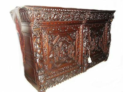 SPECTACULAR 17th c. MUSEUM QUALITY FLEMISH OAK BUFFET OR CREDENZA