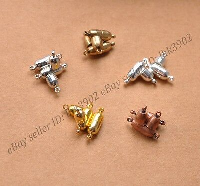 10 Sets Silver/Gold/Bronze Oval Strong Magnetic Connector Clasp For Bracelets