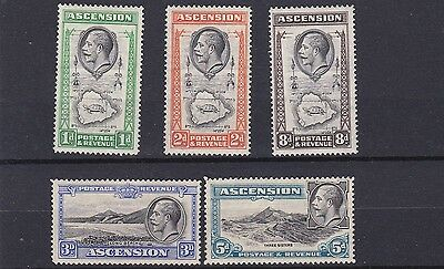 Ascension Island 1934  S G 22 - 27   Various Values To 8D Mh