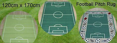 Quality Large Rugs 150cm X 100cm Football Pitch Rug Bright New Colours