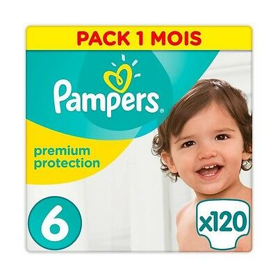 Pampers Premium Protection Taille 6 (Extra Large) 15+ kg - 120 Couches