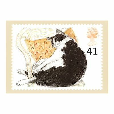 Elizabeth Blackadder - Beautiful Black-And-White Cat Royal Mail Phq 167 Postcard